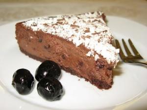 Torta Cioccolato e Ciliegie Fetta